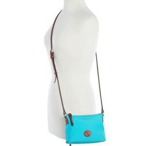 Dooney & Bourke Teal Blue Crossbody Pouchette Bag